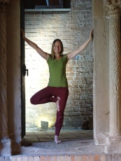Yoga-Shooting im Kloster